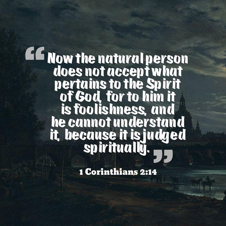 1 Corinthians 2:14 | First Corinthians | 1 corinthians 2 ...