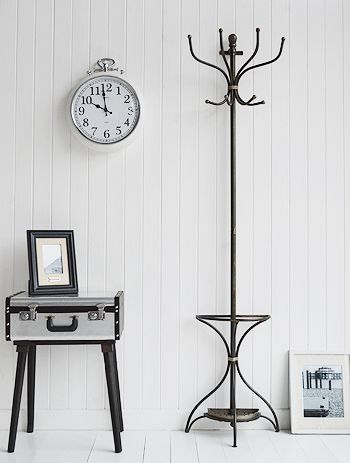 A wall mounted traditional metal Bentwood coat stand with umbrella area  from The White Lighthouse  White hall furniture and accessories. 185 best Hallway Furniture images on Pinterest   Hallway furniture