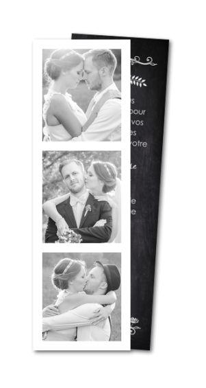 Carte de remerciement mariage Ardoise vintage (MTR-144)