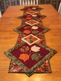 Quilted Delights: Finished Fall Table Runner