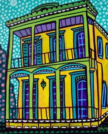 New Orleans Art Mardi Gras Poster by HeatherGallerArt on Etsy, $24.00