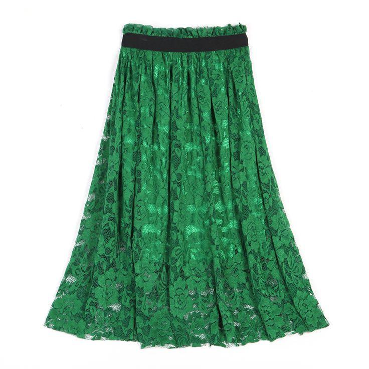 Высокое качество сексуальный цветок крючком юбка кружева подъюбники 2015 лето макси длинные юбки женщины зеленый черный купить на AliExpress