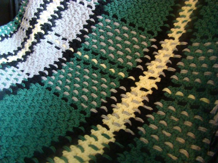 How To Crochet Tartan Afghan. Blanket