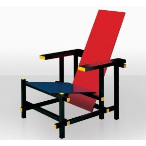 My Godmother had one of these and I sat in it in her home in Italy and in Mexico :) ~M  Red and Blue | chair 424 | Gerrit Rietveld 1918 | Bauhaus | classic