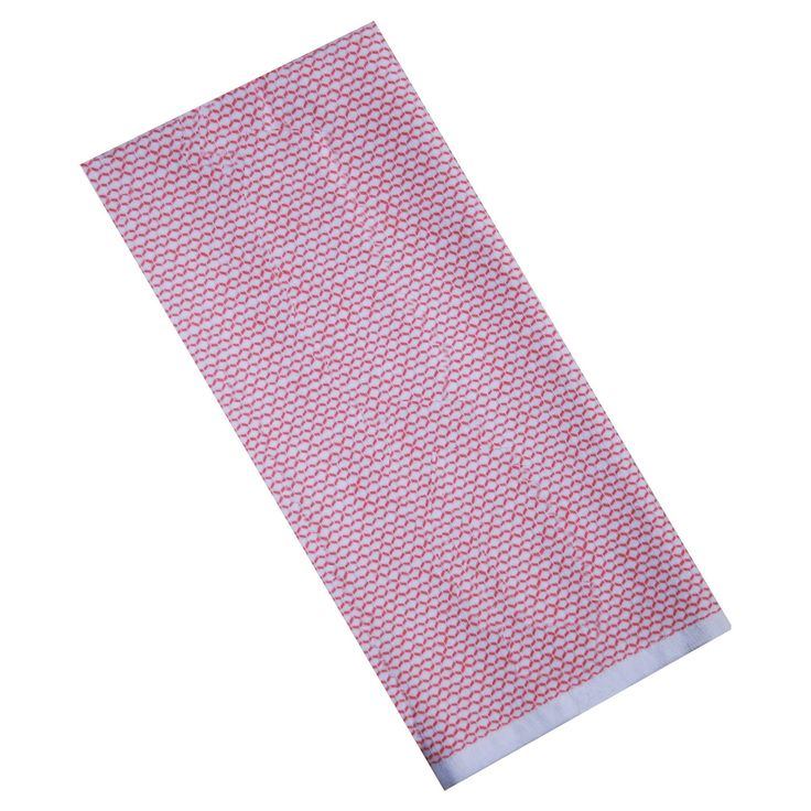 Coral Kitchen Towel Terry - Threshold, Coral Starfish/True White Uv Calibrated