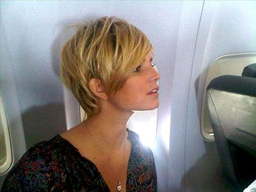 Jessica Simpson with a pixie cut.