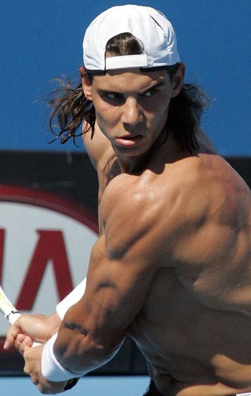 Back swings and backpacks, we have it all ~ Rafael Nadal