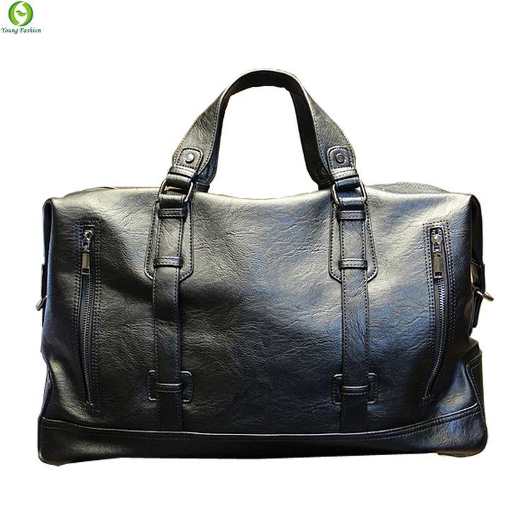 Fashion pria Tas Merek bagasi Tahan Air koper ransel tas Travel Kapasitas Besar Tas kasual kapasitas Tinggi tas kulit