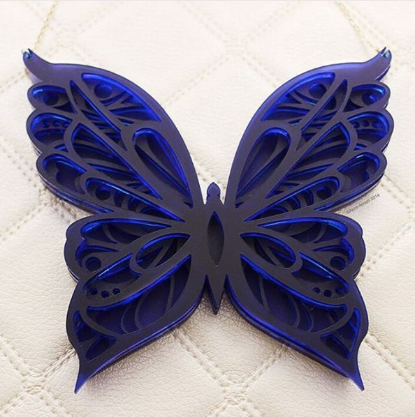 Butterfly necklace by Akira Amani London. #butterfly #necklace #jewelry #jewelrydesign