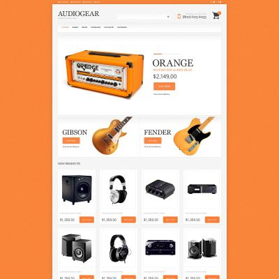 Audio Store Bootstrap Magento Template