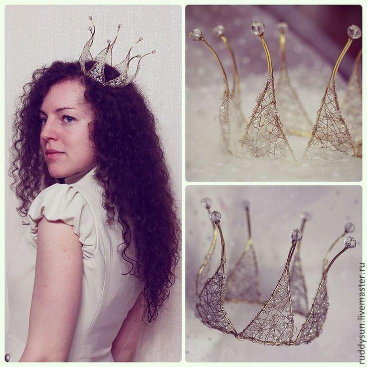 Корона золотая семистрельная - золотой,золотая корона,корона из проволоки