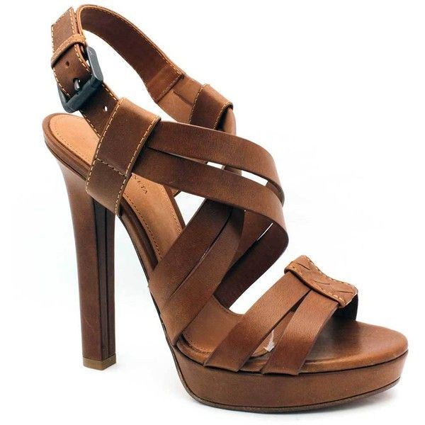 "Bottega Veneta ""307943"" Brown Leather Strappy Platform Sandal found on Polyvore Amazing!"