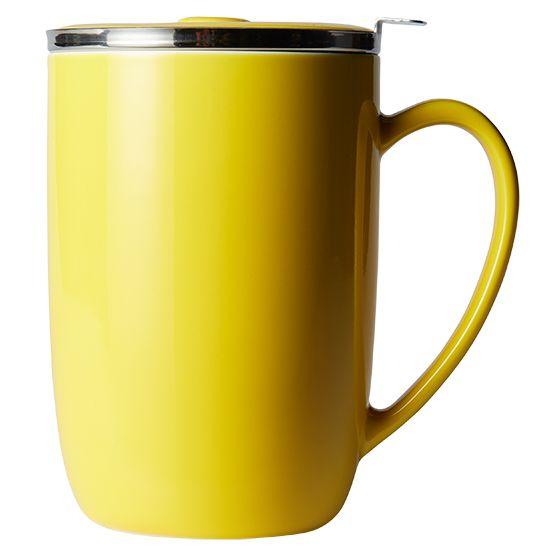 T2 Teaset Yellow Mug With Infuser And Lid