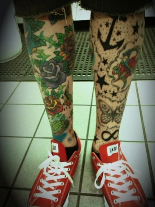awesome Tattoo Trends - leg tattoo for men Leg Sleeve Tattoos Design... Check more at http://tattooviral.com/tattoo-designs/tattoo-trends-leg-tattoo-for-men-leg-sleeve-tattoos-design/
