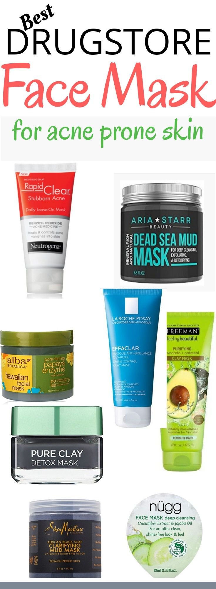 The Best Drugstore Face Mask  For Acne Prone Skin. (All under $20).