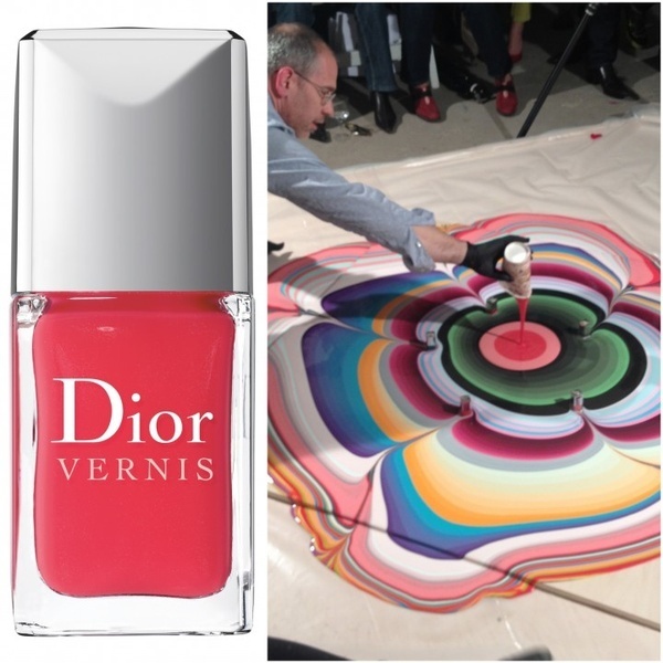 Painting with Dior.