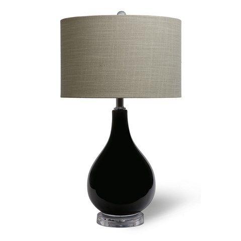 Earth de Fleur Homewares - Ash Striped Glass Table Lamp Home Decor