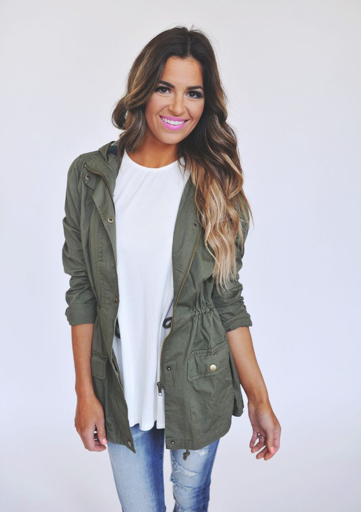 Womens olive green jacket