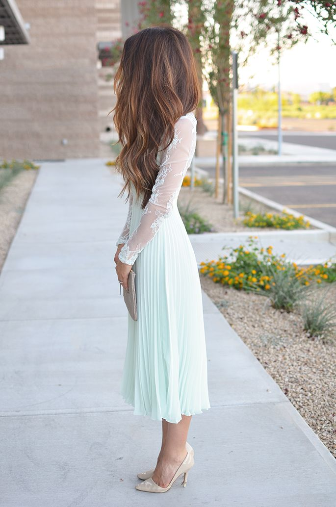 J Petite: Perfect Wedding Guest Dress - Minty Lace