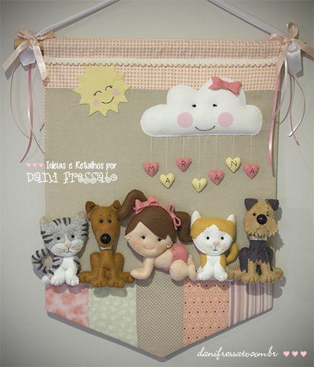 Flâmula Decorativa - Porta Maternidade