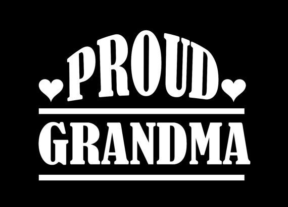 Proud grandparent car decal by asiegeldesigns on etsy