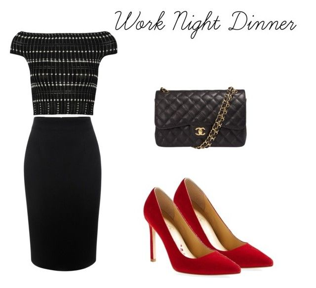 Work Night Dinner by kinderlili on Polyvore featuring polyvore Mode style  Alexander McQueen Ivanka Trump Chanel