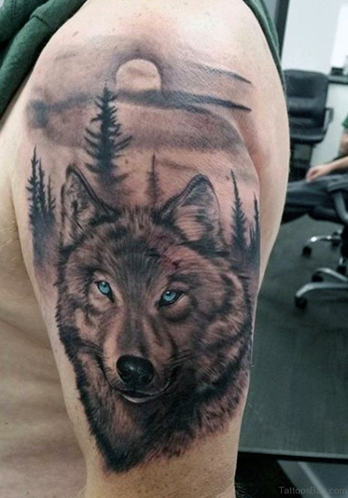Indian Wolf Tattoo For Men