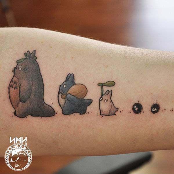 Tattoo Studio Ghibli, animation inspired by Hayao Miyazaki