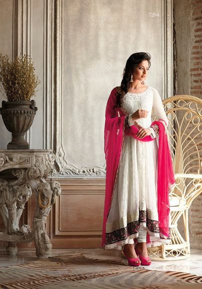 Simple but pretty chudidar except maybe with white instead of pink heels