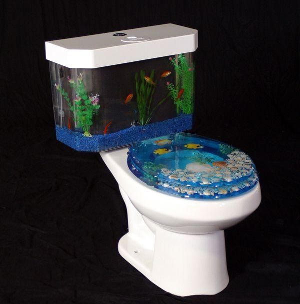 Hmmm: Idea, Fish Aquarium, Fish Tanks, Toilets Seats, Dreams House, Toilets Tanks, Things, Tanks Toilets, Bathroom