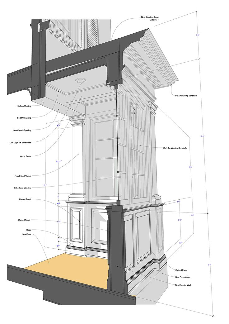 Bay window 1020 1442 building components for Bay window construction details
