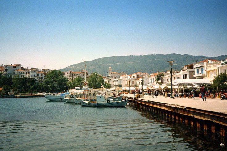 Old Port Skiathos in  Morning