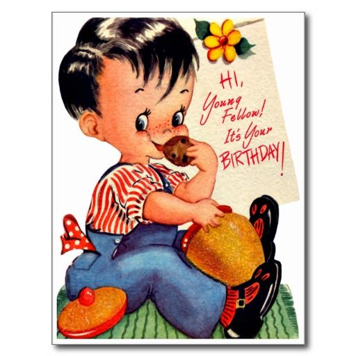 12 Best Images About Boy S Retro Birthday Cards On Happy Birthday Wishes To Small Boy