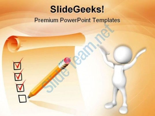 Clipboard List Business PowerPoint Templates And PowerPoint Backgrounds 0611  Presentation Themes and Graphics Slide01