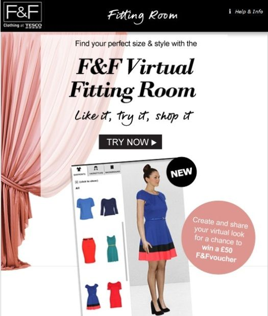 Tescos Clothing In Its Virtual 3D Fitting Room, available now but hopefully be tuned in the future.