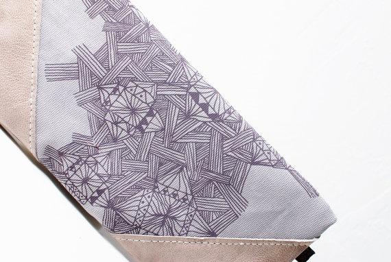 Etno Printed  Leather Pouch by CORIUMI on Etsy, $52.00: Leather Pouch, Etsy, Items, Coriumi Flip, Etno Printed, 52 00, Geometric Design