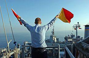 Flag semaphore - Wikipedia, the free encyclopedia