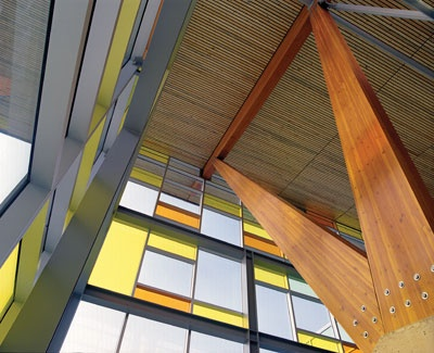 the vibrant design of Kwantlen Polytechnic University's Cloverdale campus.