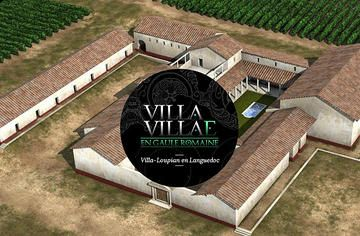 Page d'accueil du site Villa, villae en Gaule romaine. La villa de Loupian en Languedoc