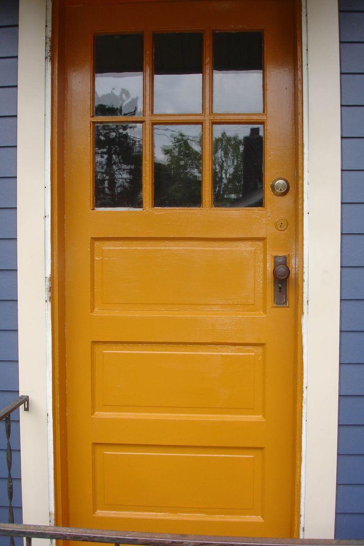 Yellow Ochre Back Door Color Inspiration Doors Red