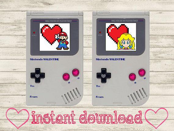 Super Mario / Princess Peach Printable Valentines