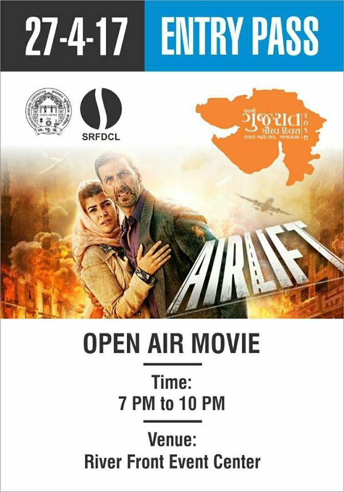 Open Air Movie @RiverFront 27/4/2016 starting at 7 o'clock.#AMCGujaratGaurav #Ahmedabad #AMC