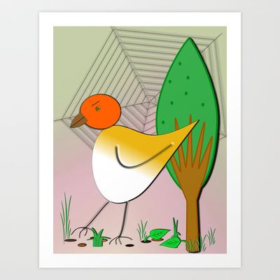 Bird for Children´s room Art Print by LoRo  Art & Pictures - $17.90