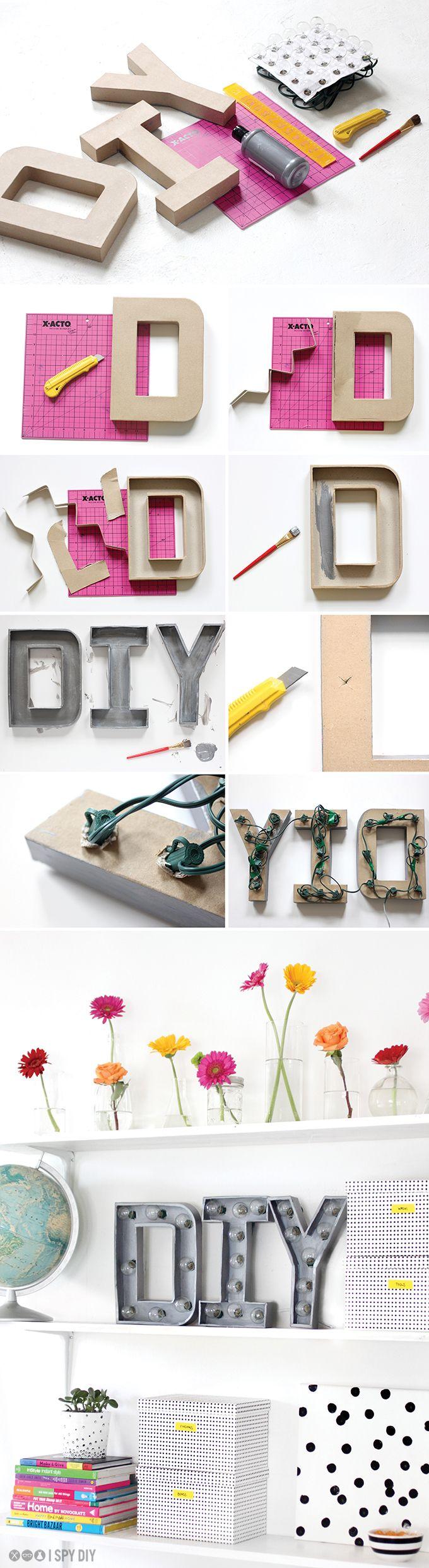 DIY Marquee Letters   Leuchtbuchstaben