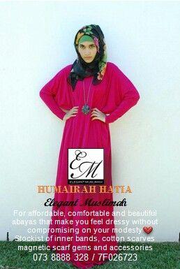 www.facebook.com/elegantmuslimahkzn  Instagram @elegantmuslimahkzn  Beautiful abayas in an array of colours.   #ElegantMuslimah #DressAbaya #ColourAbayas #LuxuryYouCanAfford #SimpleElegance #ModestYetStylish