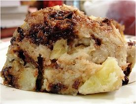 Vegan Bread Pudding * 4 cups day old bread * 3 cups almond milk * 3/4 cup sugar * 1 tbsp vanilla * 1 tsp ground cinnamon * 1 cup raisins * 1/2 cup chopped almonds