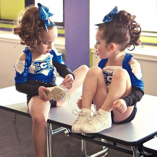 Little Cheer <3 my goal: when I have a daughter, I will get her into cheerleading as quick as I can. Because I wish I started earlier too.
