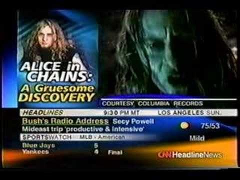 Layne Staley's death announced on CNN - 04/20/02