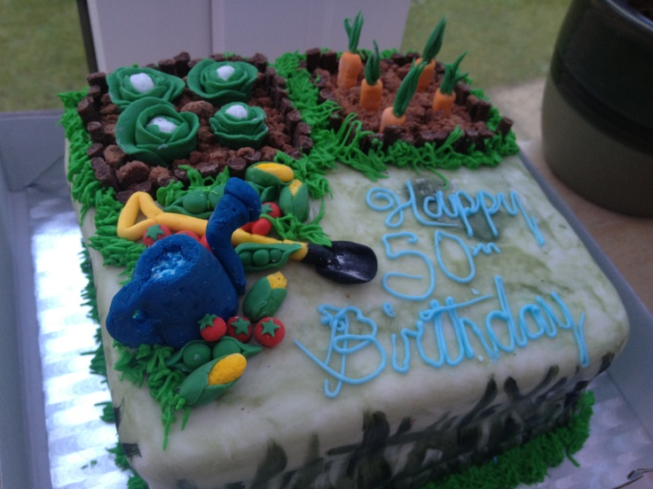 Vegetable garden cake ideas photograph garden cake with fo for Vegetable garden cake ideas