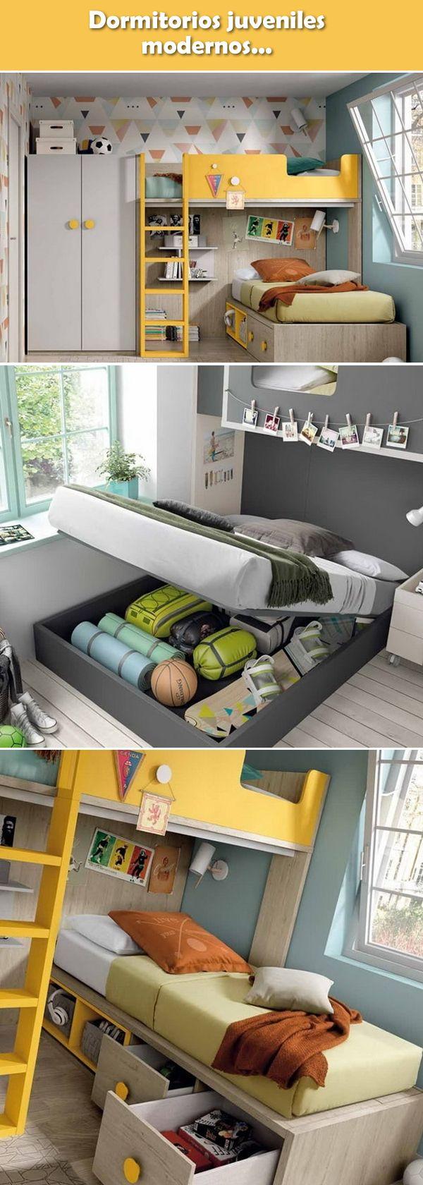 Dormitorios juveniles modernos. Ideas para habitaciones juveniles. Muebles para dormitorios infantiles. #decoracionjuvenil #decoracioninfantil